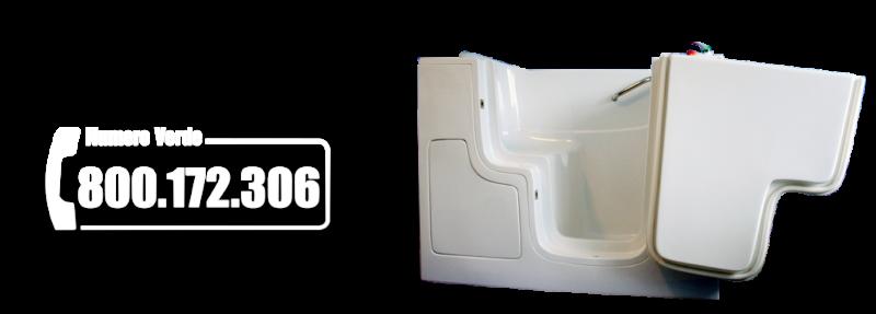 Sicurbagno: vasche con sportello per anziani e disabili.