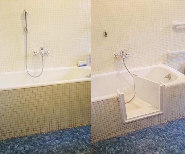 Sportello per vasca esistente installazione gratuita in 2 h for Vasca per stagno